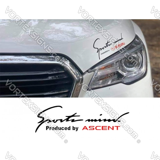 Sport Mind Powered by ASCENT decal sticker (Subaru) sticker