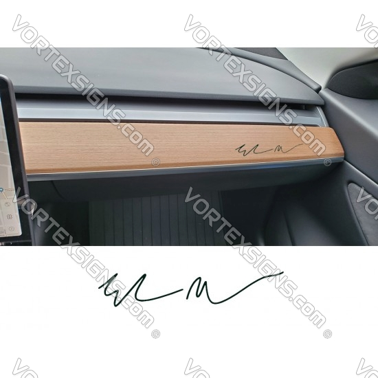 Elon Musk dash Autograph / signature decal sticker