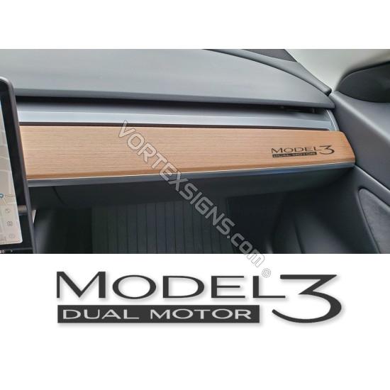 Model 3 dashboard Decal sticker