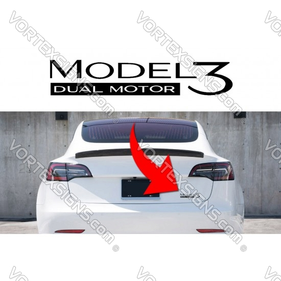Model 3 Performance trunk decal 3 sticker