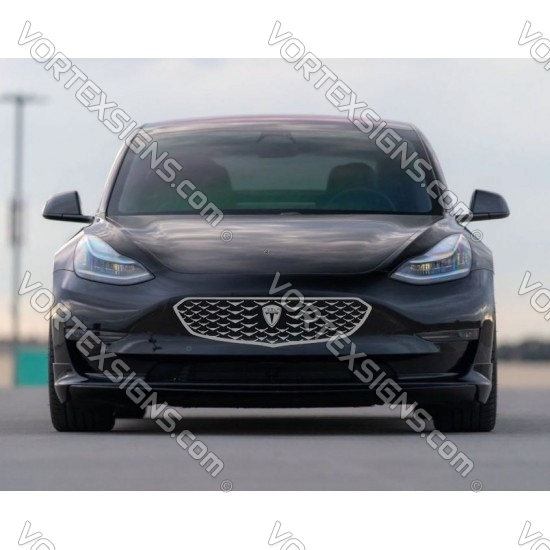Tesla Model Y Model 3 bumper grille decal V style - 7A sticker
