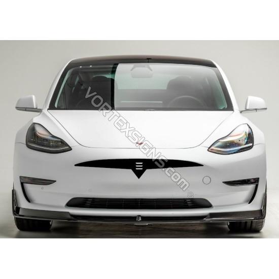 tesla Model 3 model y bumper overlay decal sticker