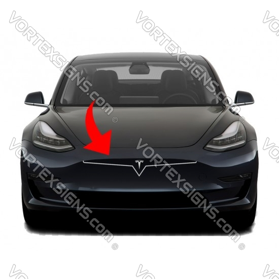 Model 3 bumper overlay decal sticker outline