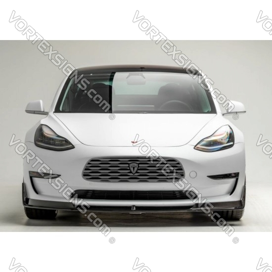 Tesla Model Y Model 3 bumper grille decal V style - 7A sticker
