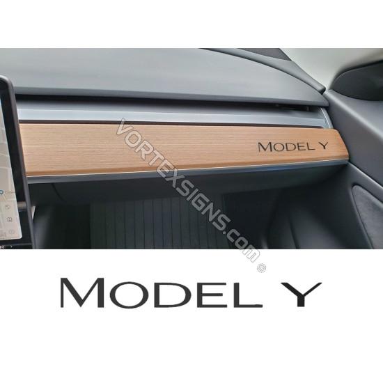 Model Y dashboard Decal sticker