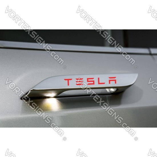 Model S Door Handles overlay sticker