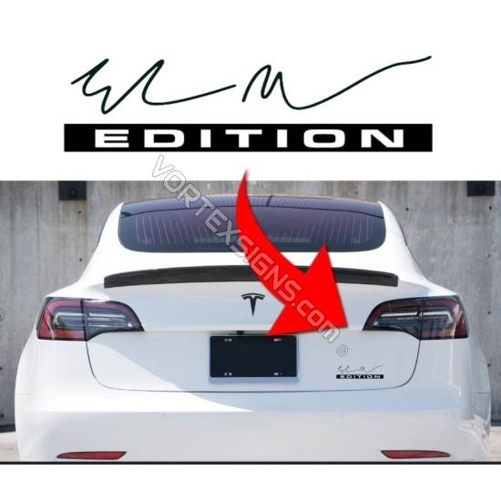 Trunk Elon Musk Edition decal sticker