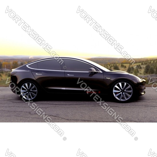 2pcs Model 3 door panel Decals sticker