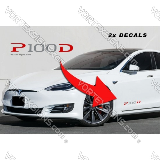 P100D Lower door decals sticker