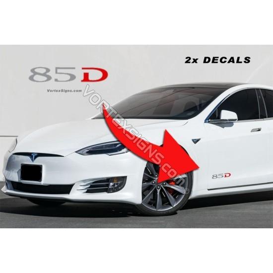 85D Lower door decals sticker