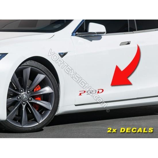 P90D Lower door decals sticker