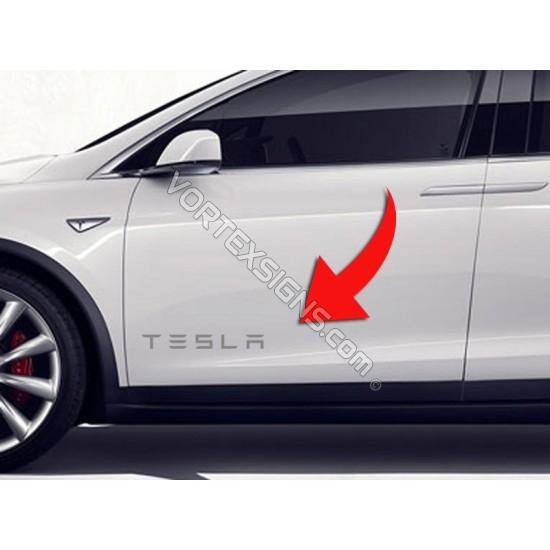 2pcs TESLA door panel Decal sticker