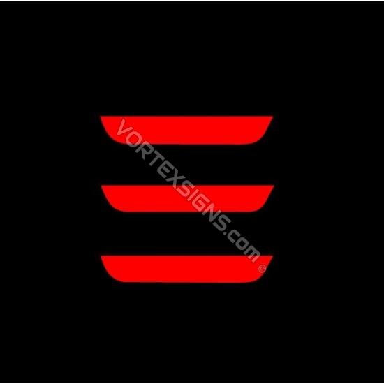 Model 3 Logo sticker