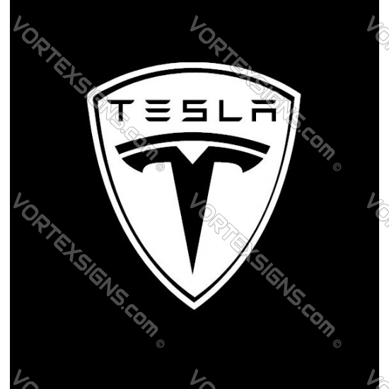 TESLA Logo - Full sticker