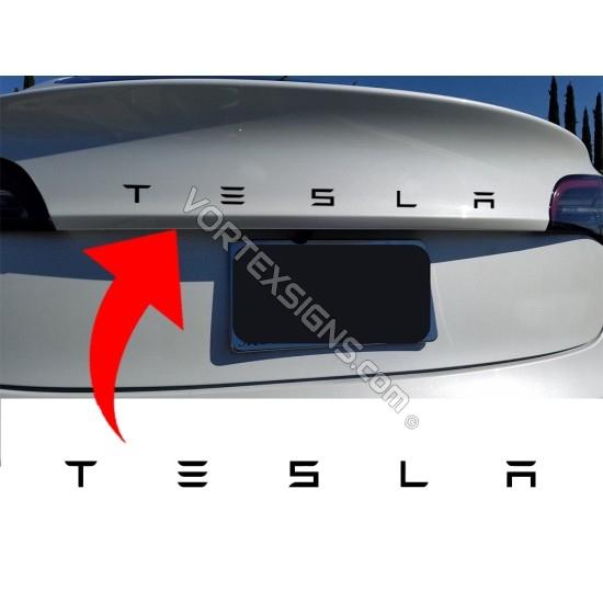 Tesla Trunk letters sticker decal sticker