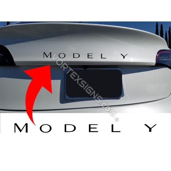 Model Y Trunk Letters sticker sticker