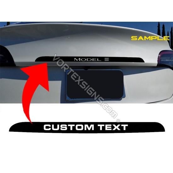 Tesla Model 3 Y Trunk Accent - Custom Text sticker