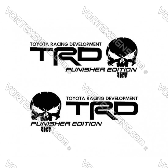 Tundra tacoma TRD Punisher bedside Decals sticker