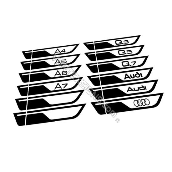 audi q7 q5 q3 a4 a5 a6 a7 Door molding exterior accessory Wings decal