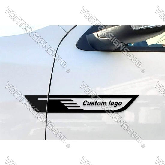 2pcs Custom Text Door Wings sticker