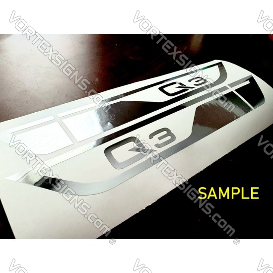 vw r line under mirror Door molding exterior accessory Wings decal
