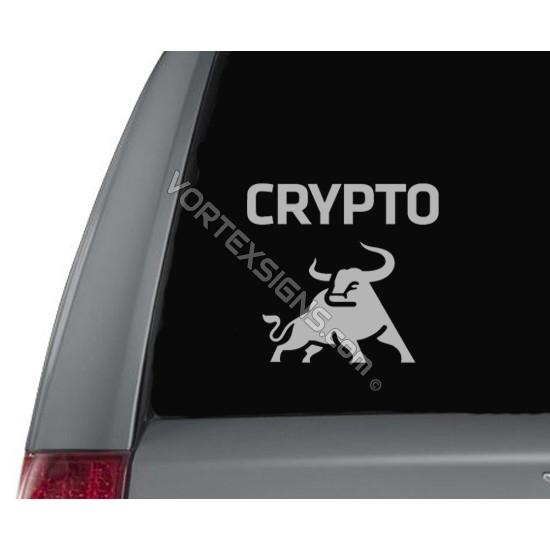 Crypto Bull  sticker