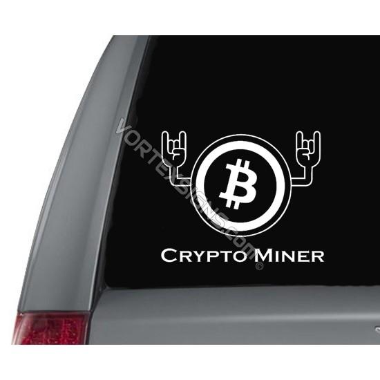 Crypto Miner Hands sticker