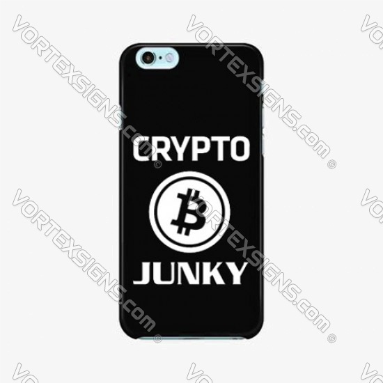Crypto Junky Phone decal sticker