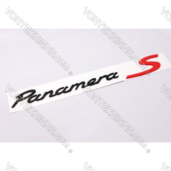 porsche Panamera S Emblem badge nameplate black
