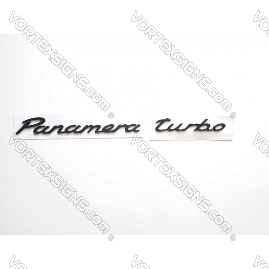 porsche Panamera turbo Emblem badge nameplate black