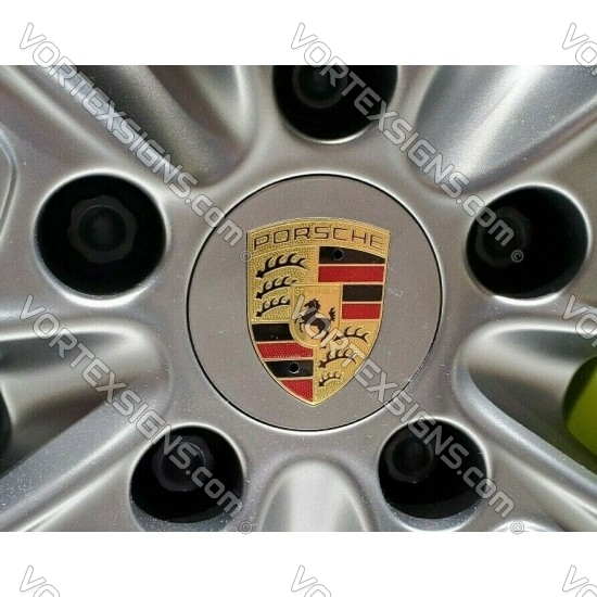 Porsche Light Silver Center Caps (76mm)