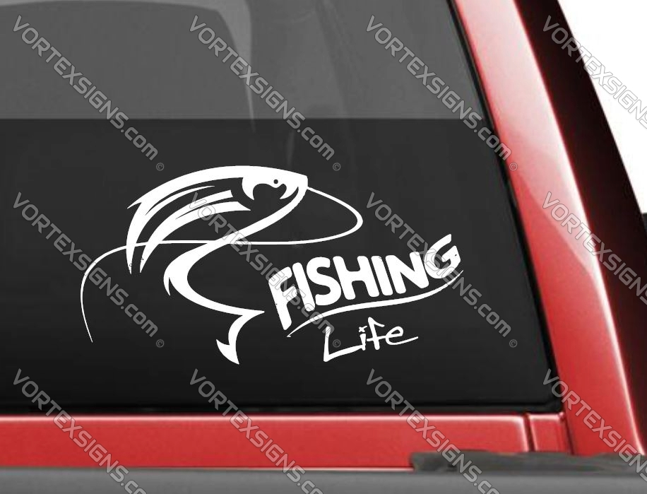Fishing car decals stickers and graphics