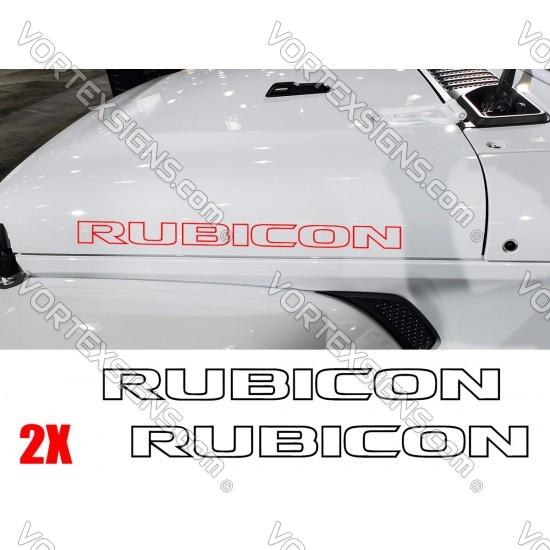 Rubicon Hood Letters sticker