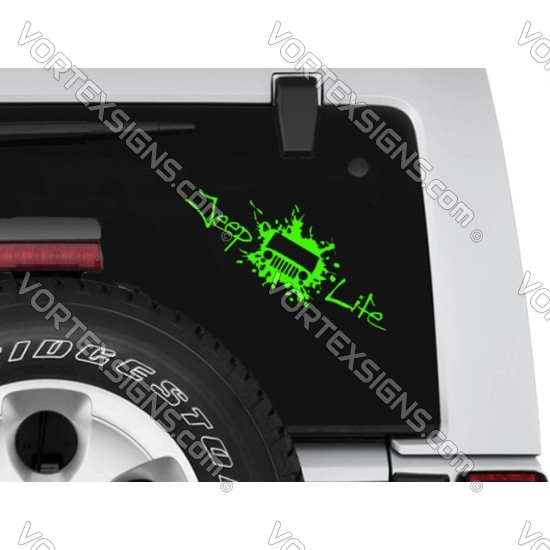 Jeep Life decal (style 2) sticker