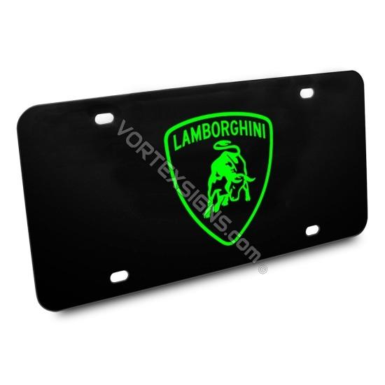 Lamborghini Vanity Plate sticker