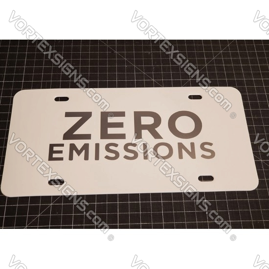 Zero Emission tesla plates sticker