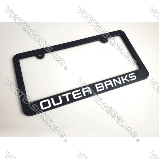 OUTERBANKS license plate frame (Ford Bronco)