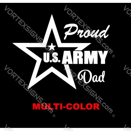 Proud US Army Dad sticker