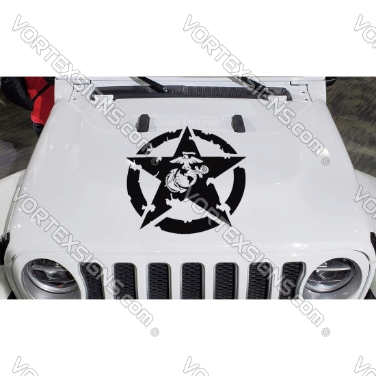 USMC Hood Star sticker