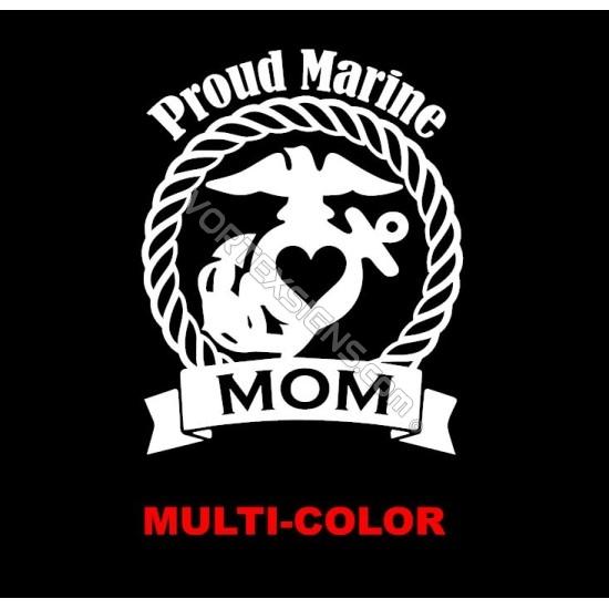 USMC Proud Marine Mom sticker