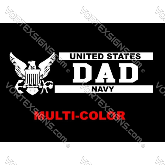 USA Navy Dad sticker