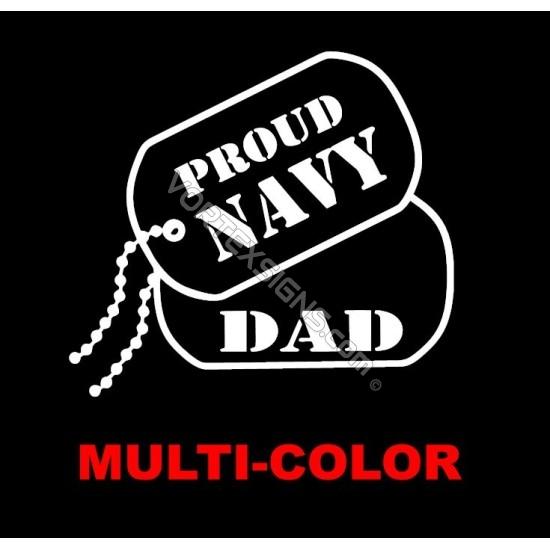 USA Navy Dad sticker