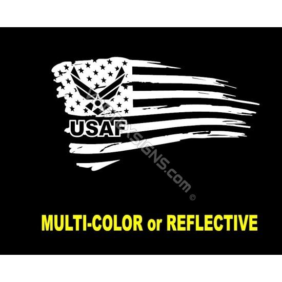 USAF logo flag 1 sticker