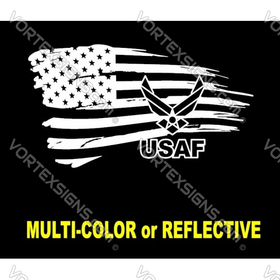 USAF logo flag 3 sticker