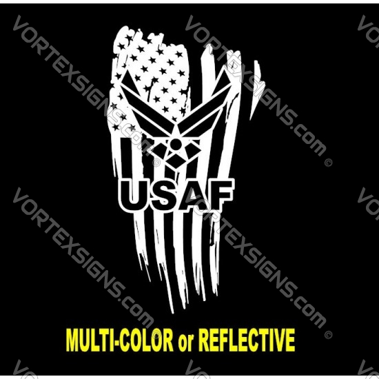 USAFlogo flag 4 sticker