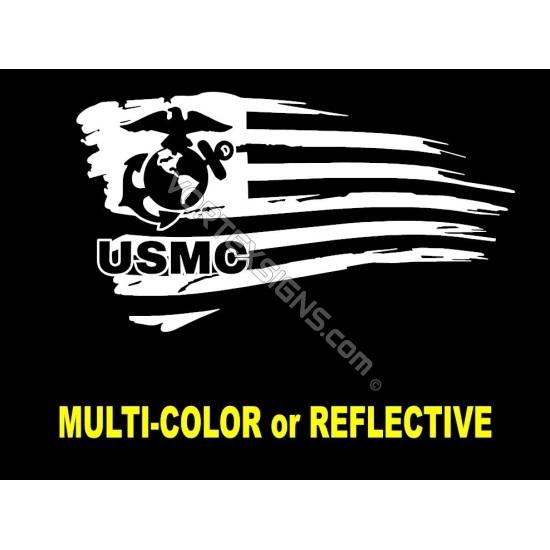 USMC logo flag 1 sticker