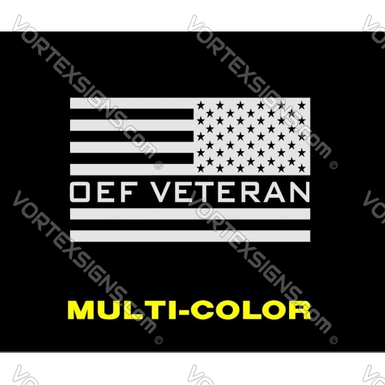 OEF Veteran US Flag 2 sticker