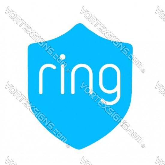 Ring home window security sticker