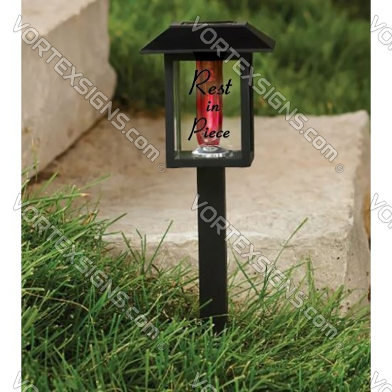 Cementary Grave Memory LED light sticker