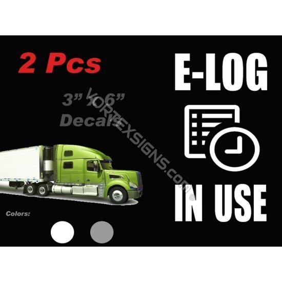 ELD E log In Use sticker